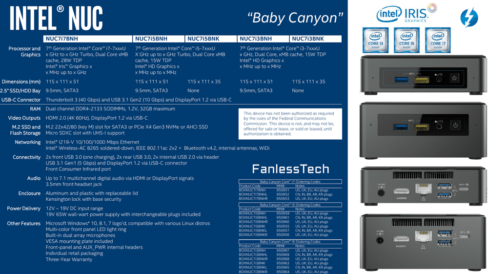 Intel latest NUC Baby Canyon based on new Kaby Lake and Apollo Lake processors 23