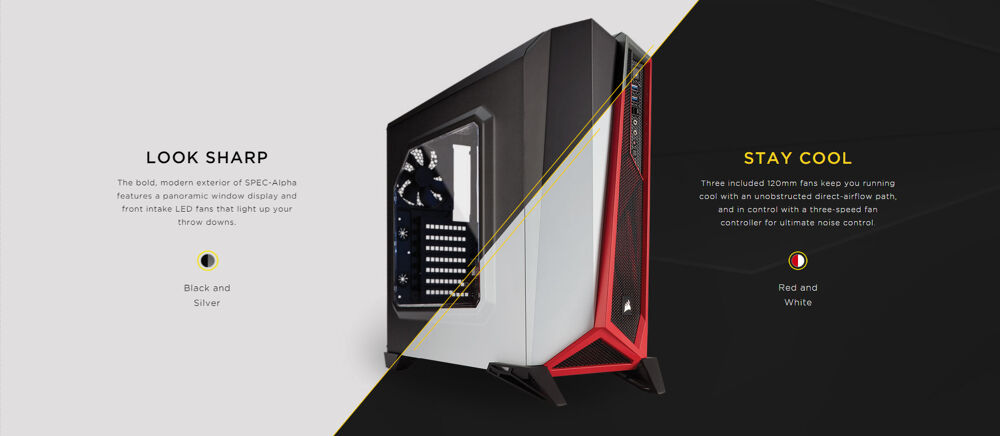Corsair's edgy Carbide SPEC-ALPHA announced 22