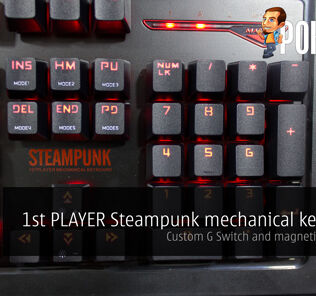 1st PLAYER Steampunk mechanical keyboard review 21