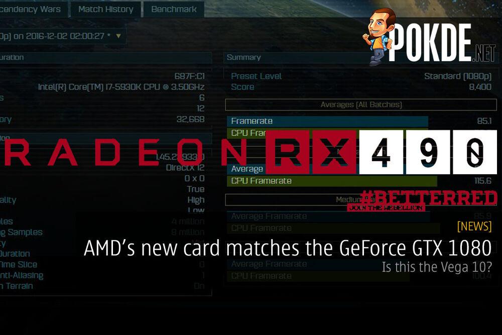 AMD's new card matches the GeForce GTX 1080 — the AMD Vega 10? 22