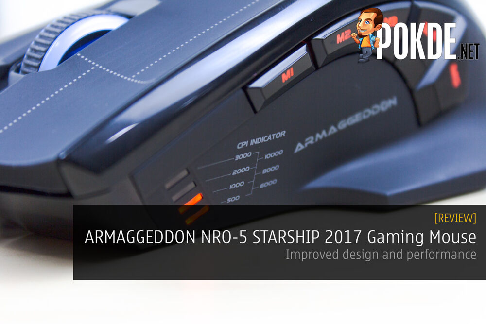 ARMAGGEDDON NRO-5 STARSHIP III 2017 Edition Gaming Mouse Review - Improved design and performance 16