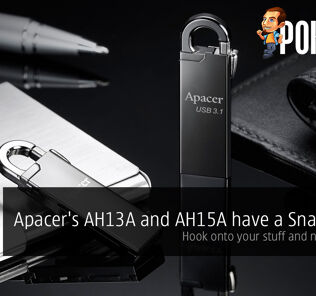 Apacer's AH13A and AH15A have a Snap Hook, hook onto your stuff and never lose it 26