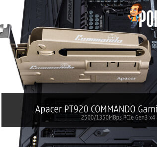 Apacer PT920 COMMANDO Gaming SSD; 2500/1350MBps PCIe Gen3 x4 announced 40