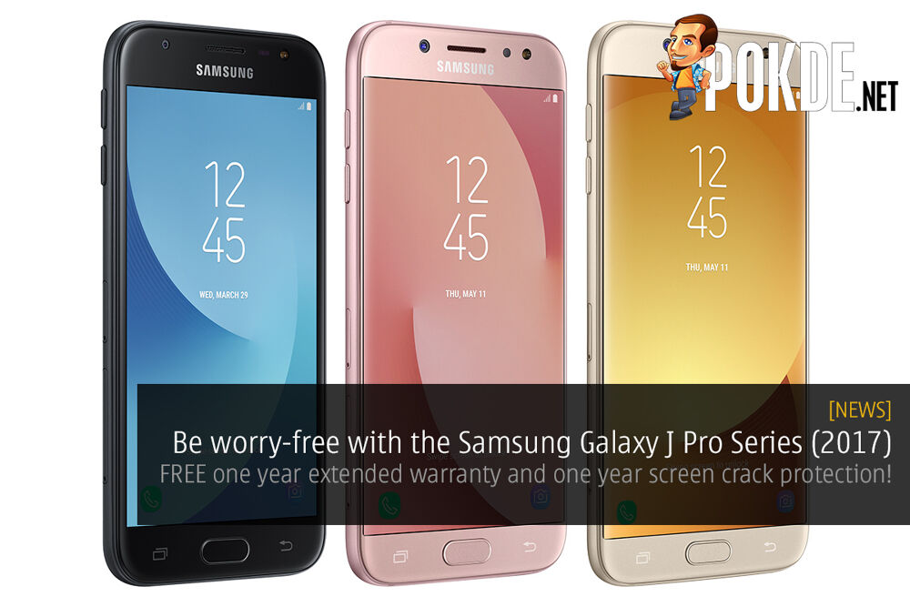 Samsung Galaxy J Pro Series (2017) come with FREE one-year extended warranty and one-year screen crack protection 19