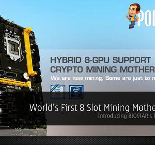World's First 8 Slot Mining Motherboard - Introducing BIOSTAR's TB250-BTC+ 30