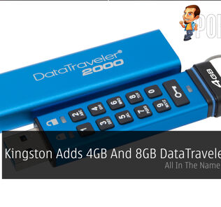 Kingston Adds 4GB And 8GB DataTraveler 2000 - All In The Name Of Security 25