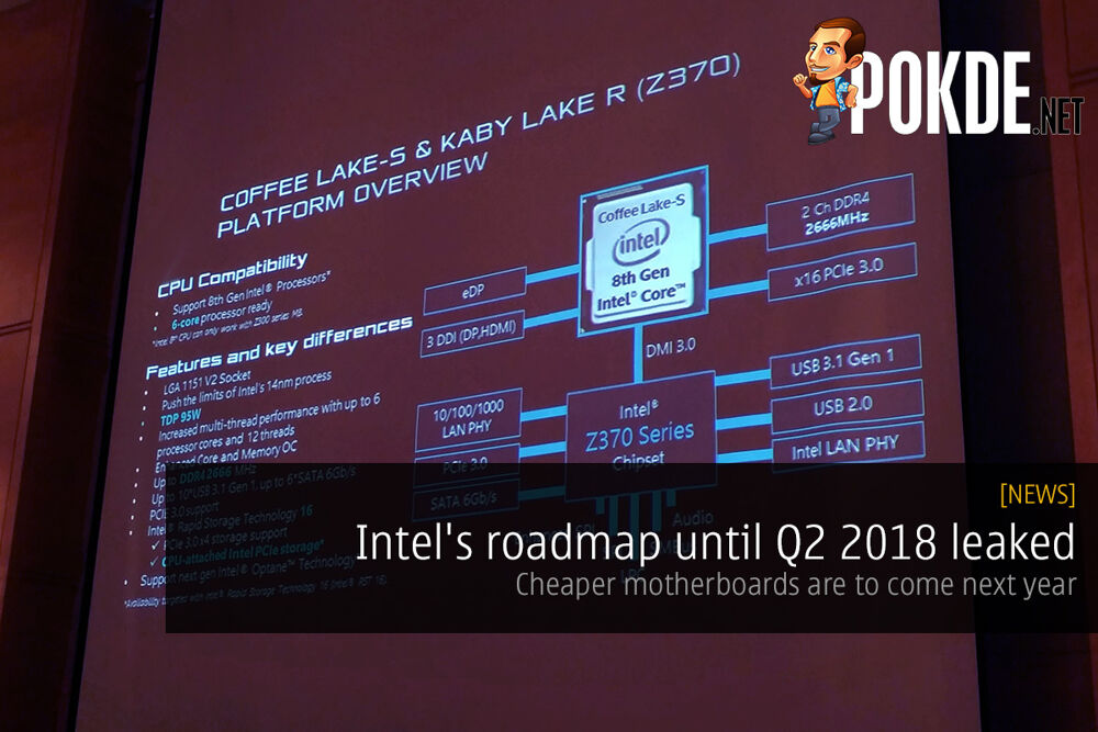 Intel's roadmap until Q2 2018 leaked; cheaper motherboards are to come next year 21
