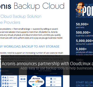 Acronis announces partnership with CloudLinux and Plesk; adds easy to use backup tools to help businesses save costs! 29
