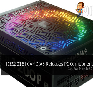 [CES2018] GAMDIAS Releases PC Component Line Up - Set For March 2018 Release! 23