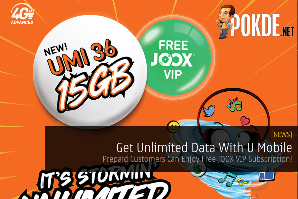 Get Unlimited Data With U Mobile - Prepaid Customers Can Enjoy Free JOOX VIP Subscription! 19
