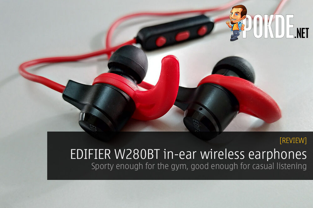 Edifier W280BT in-ear wireless earphones review; sporty enough for the gym, good enough for casual listening 21