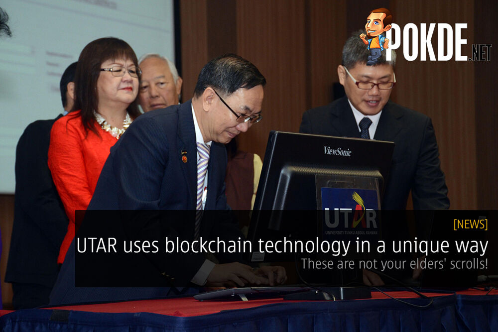 UTAR uses blockchain technology in a unique way — these are not your elders' scrolls! 22