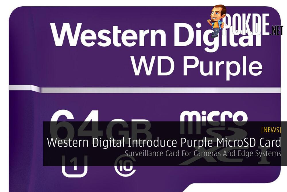 Western Digital Introduce Purple MicroSD Card - Surveillance Card For Cameras And Edge Systems 20