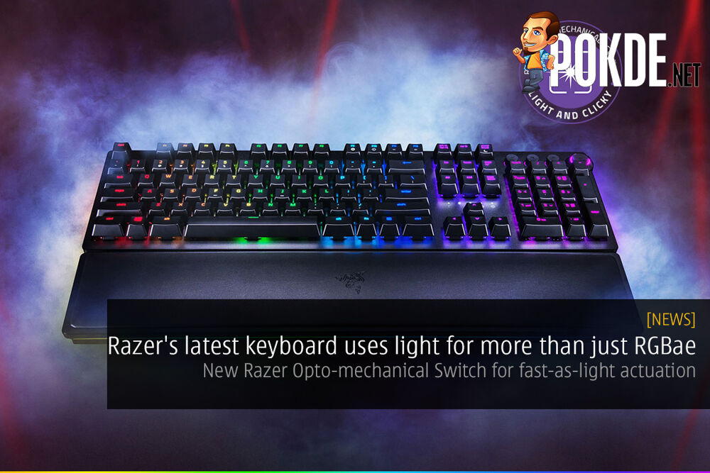 Razer's latest keyboard uses light for more than just RGBae — New Razer Opto-mechanical Switch for fast-as-light actuation 20