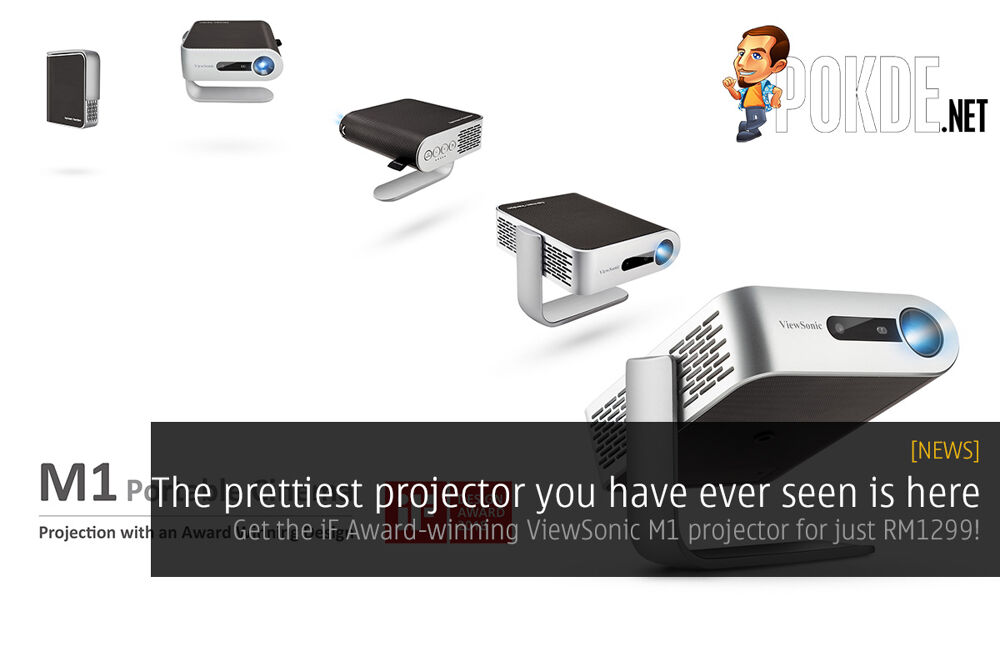 The prettiest projector you have ever seen is here — get the iF Award-winning ViewSonic M1 projector for just RM1299! 20