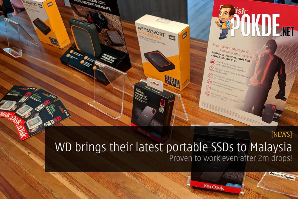 WD brings their latest portable SSDs to Malaysia — proven to work even after 2m drops! 24
