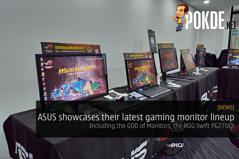 ASUS showcases their latest gaming monitor lineup — including the GOD of Monitors, ROG Swift PG27UQ 22