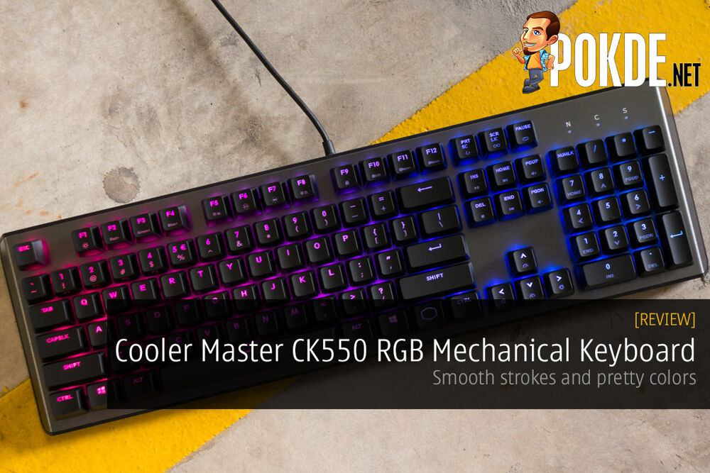 Cooler Master CK550 RGB Mechanical Keyboard Review — smooth strokes and pretty colors 24