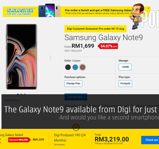 Samsung Galaxy Note9 available from Digi for just RM1699 — and would you like a second smartphone with that? 34