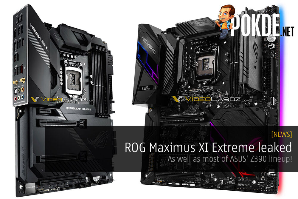 ROG Maximus XI Extreme leaked — as well as most of ASUS' Z390 lineup! 23