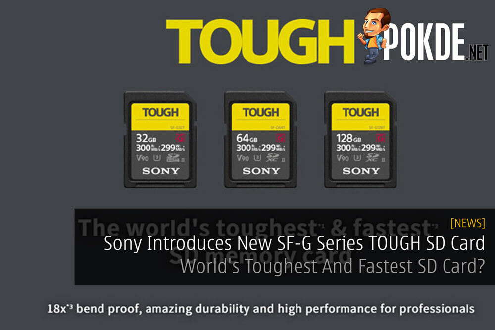 Sony Introduces New SF-G Series TOUGH SD Card — World's Toughest And Fastest SD Card? 24