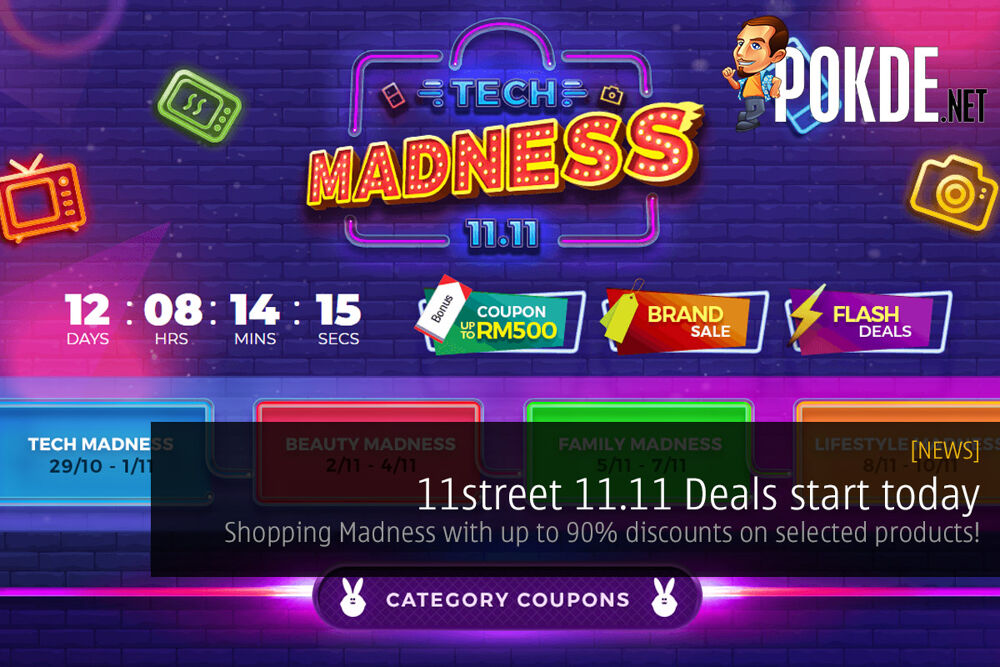11street 11.11 Deals start today — Shopping Madness with up to 90% discounts on selected products! 24