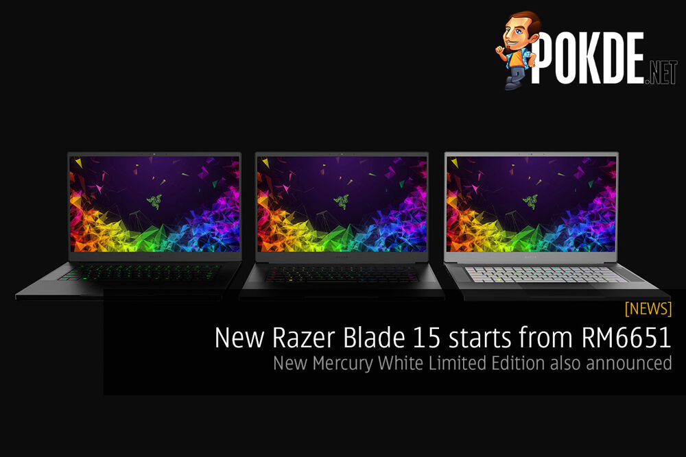 New Razer Blade 15 starts from RM6651 — new Mercury White Limited Edition also announced 20