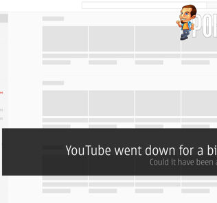 YouTube went down for a bit today — could it have been a gimmick? 20