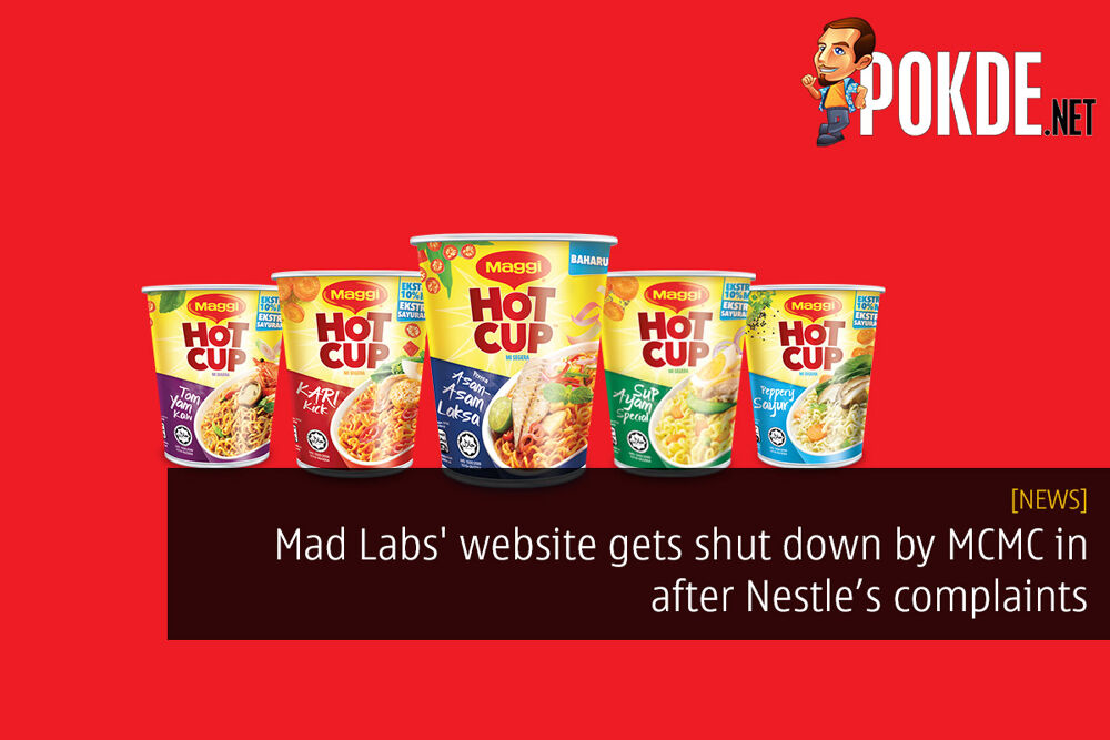 Mad Labs' website gets shut down by MCMC in response to Nestle complaints 29