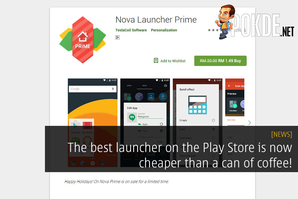 The best launcher on the Play Store is now cheaper than a can of coffee! 15