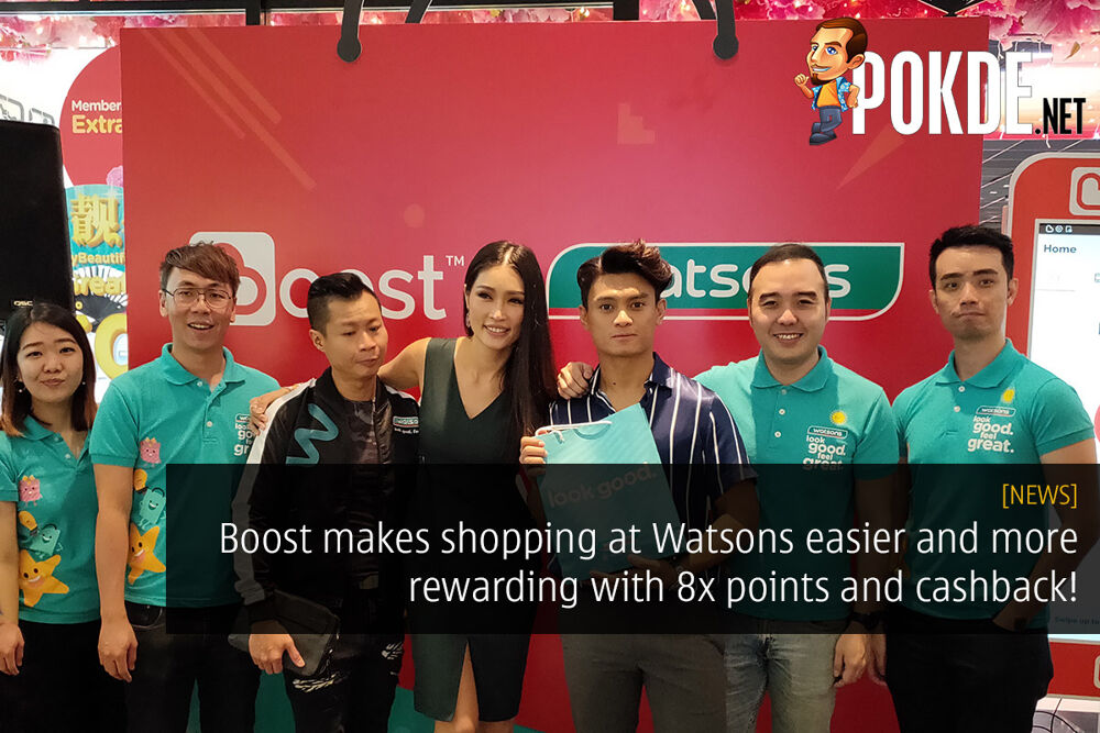 Boost makes shopping at Watsons easier and more rewarding with 8x points and cashback! 25