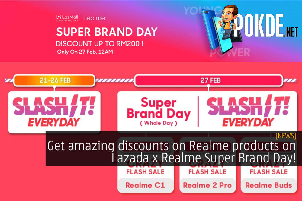 Get amazing discounts on Realme products on Lazada x Realme Super Brand Day! 29