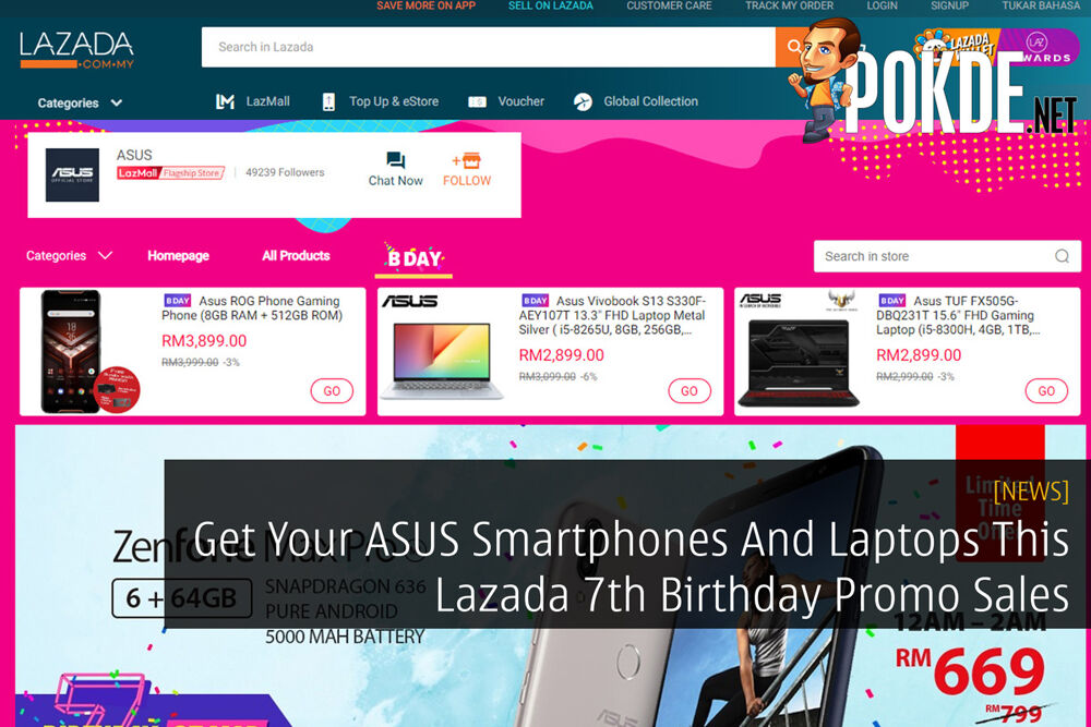 Get Your ASUS Smartphones And Laptops This Lazada 7th Birthday Promo Sales 27