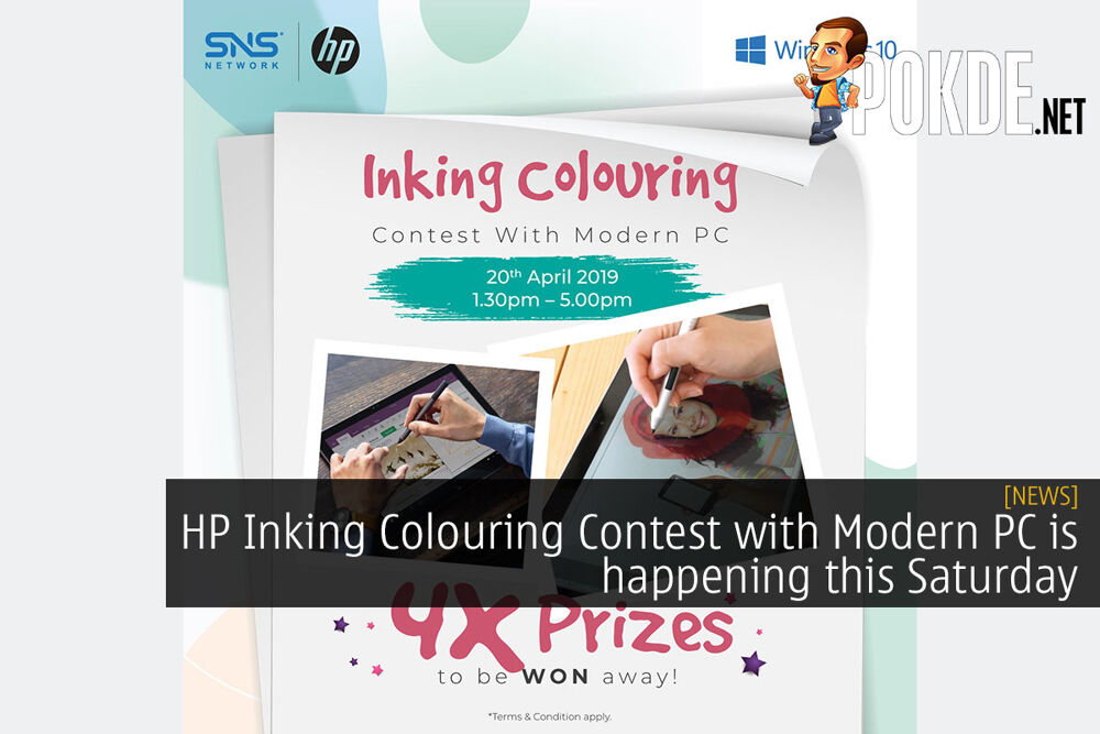 HP Inking Colouring Contest with Modern PC is happening this Saturday 24