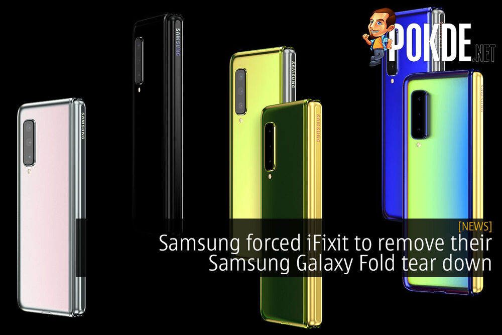Samsung forced iFixit to remove their Samsung Galaxy Fold tear down 22