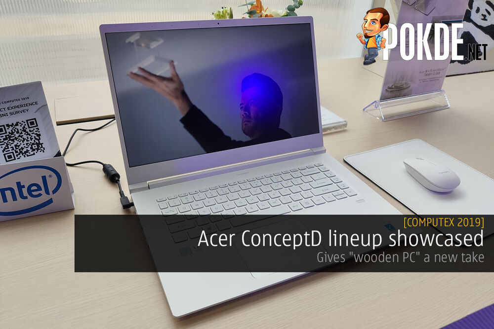 """[Computex 2019] Acer ConceptD lineup showcased — gives """"wooden PC"""" a new take 23"""