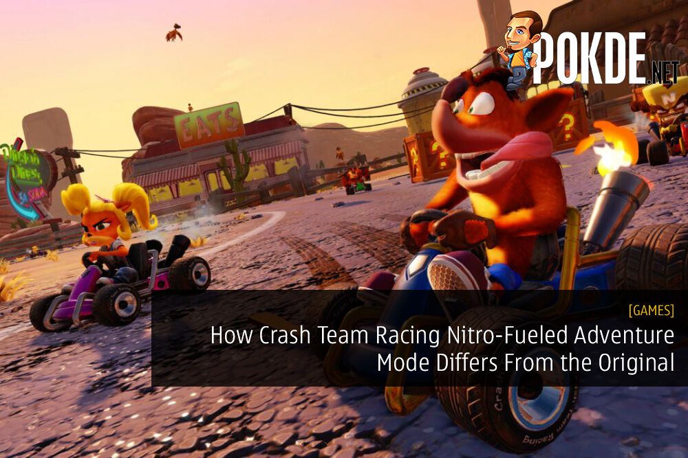 How Crash Team Racing Nitro-Fueled Adventure Mode Differs From the Original
