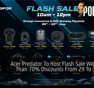 Acer Predator To Host Flash Sale With More Than 70% Discounts From 29 To 30 June 22