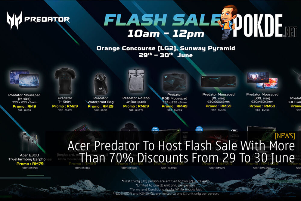 Acer Predator To Host Flash Sale With More Than 70% Discounts From 29 To 30 June 25