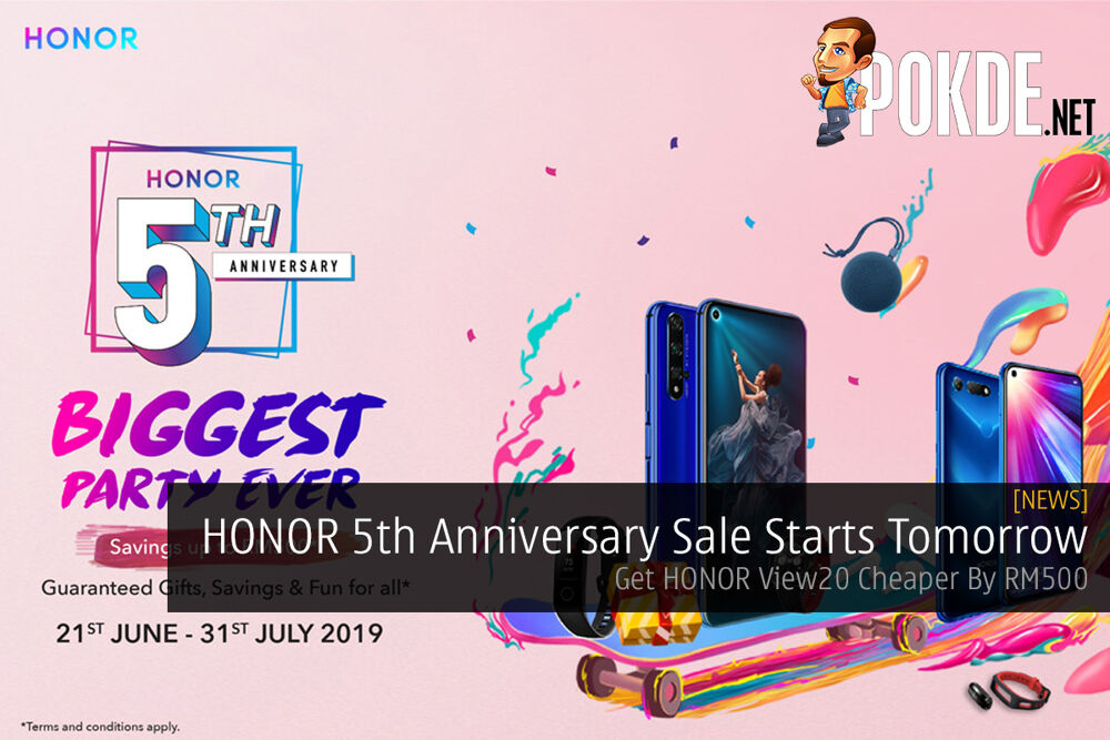 HONOR 5th Anniversary Sale Starts Tomorrow — HONOR View20 Cheaper By RM500 24