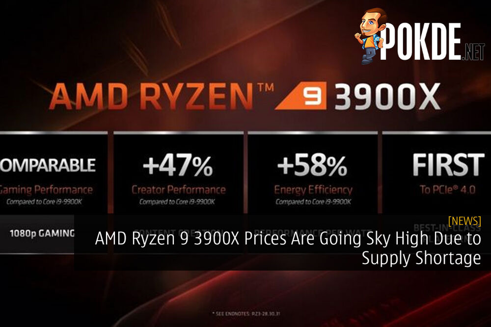 AMD Ryzen 9 3900X Prices Are Going Sky High Due to Supply Shortage