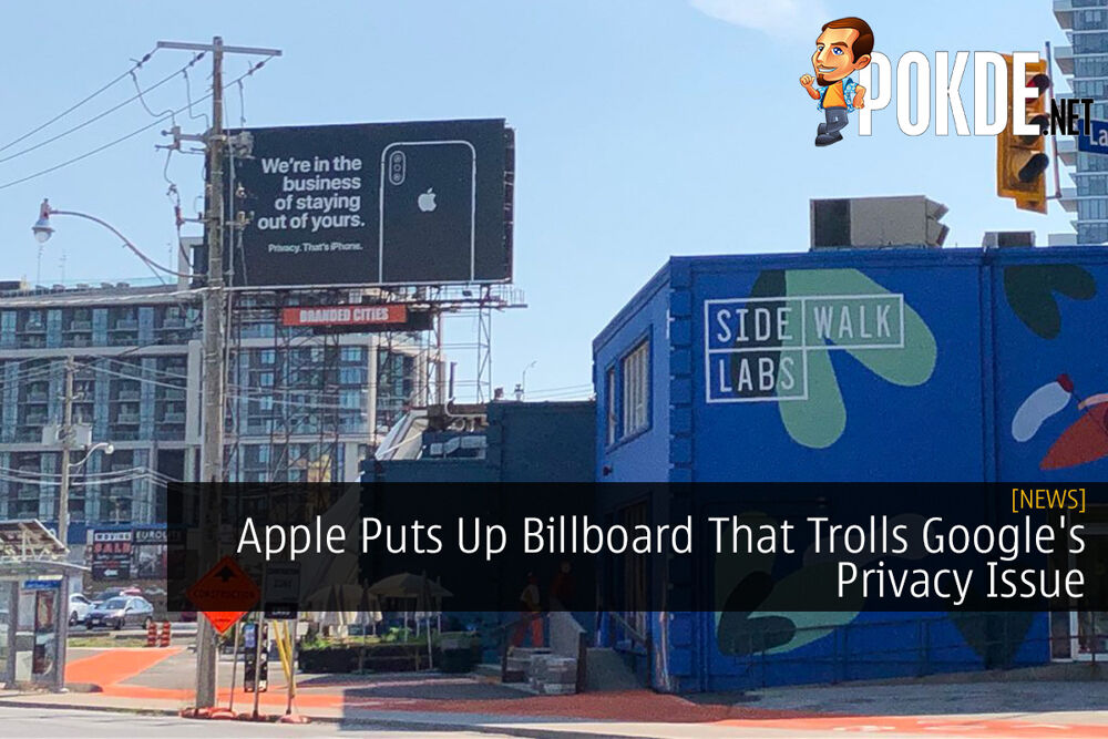 Apple Puts Up Billboard That Trolls Google's Privacy Issue 16