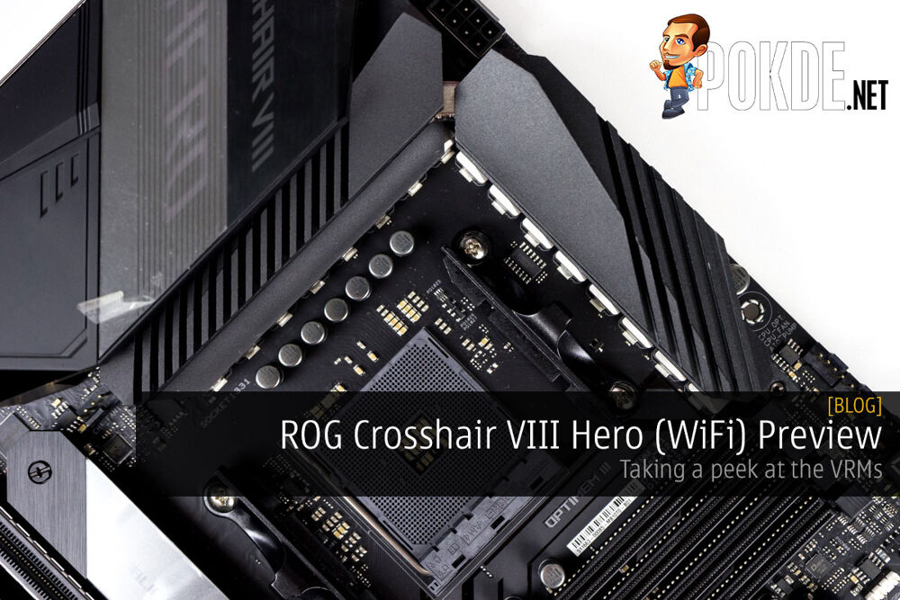 ROG Crosshair VIII Hero (WiFi) Preview — taking a peek at the VRMs 20