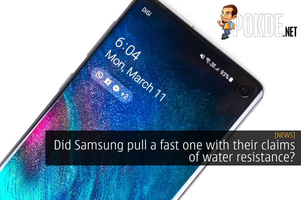 Did Samsung pull a fast one with their claims of water resistance? 22
