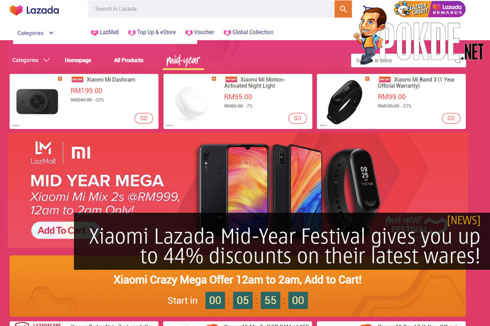 Xiaomi Lazada Mid-Year Festival gives you up to 44% discounts on their latest wares! 24