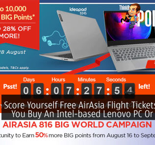 Score Yourself Free AirAsia Flight Tickets When You Buy An Intel-based Lenovo PC Or Laptop 22