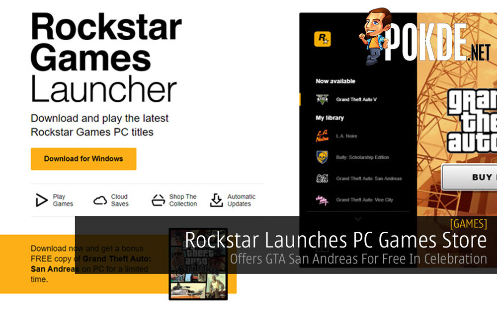 Rockstar Launches PC Games Store — Offers GTA San Andreas For Free In Celebration 18