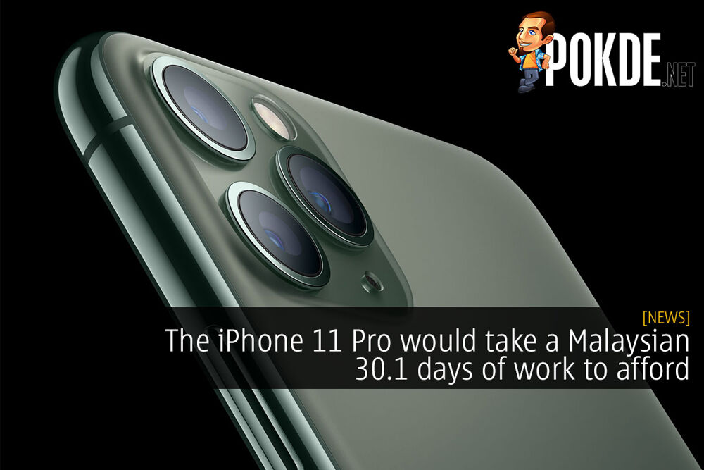 The iPhone 11 Pro would take a Malaysian 30.1 days of work to afford 24