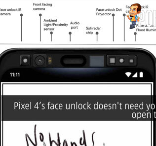 Pixel 4's face unlock doesn't need your eyes open to work 20
