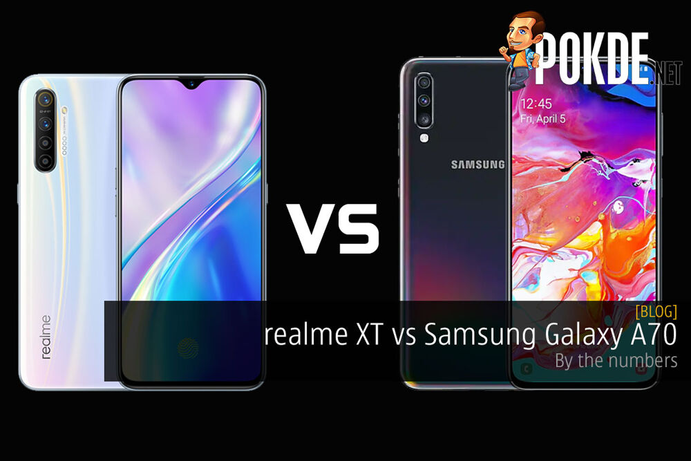 realme XT vs Samsung Galaxy A70 — by the numbers 24